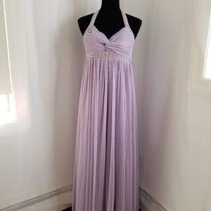 Halter Lavander Gown